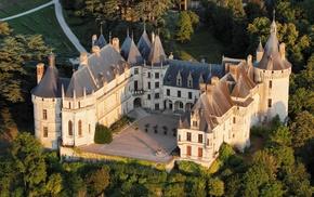 sunlight, France, tower, landscape, architecture, birds eye view
