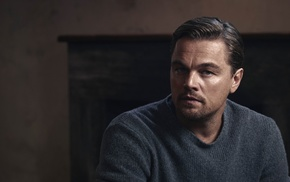 men, looking at viewer, portrait, face, Leonardo DiCaprio, actor
