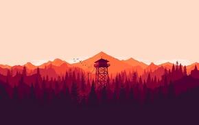 Firewatch, mountains, landscape