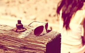 filter, girl, sunglasses