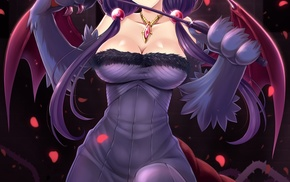 cleavage, original characters, anime, anime girls, monster girl, wings