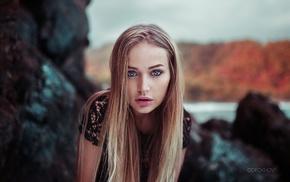 portrait, Maria Puchnina, Ivan Gorokhov, face, girl, blonde