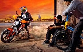 BMX, motorcycle
