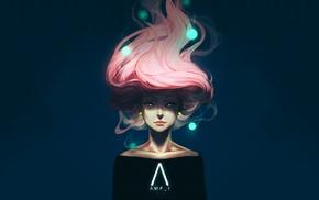 comic art, girl, dCTb, pink hair, artwork, AMP I