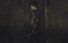 armor, warrior, fantasy art, artwork, sword
