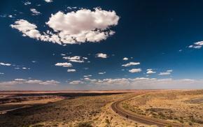 sky, desert, road