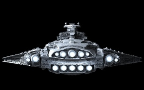 Star Destroyer, Star Wars, artwork, spaceship