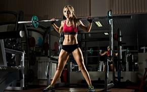 sports bra, fitness model, girl, gyms, pierced navel, weightlifting