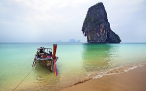 Thailand, beach, boat