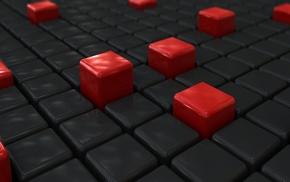 3D Blocks, abstract