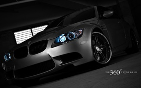 dark, BMW, car