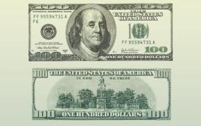 dollars, green background, money