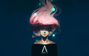 dCTb, comic art, pink hair, AMP I, drawing, artwork