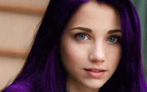 long hair, photo manipulation, blue eyes, girl, face, model