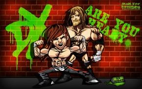Triple H, cartoon, WWE, Shawn Michaels, DX