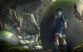 Touhou, Kawashiro Nitori, dragon, anime, anime girls