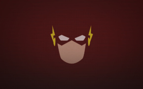 arrows, The Flash, Flash, speed triple, red, face