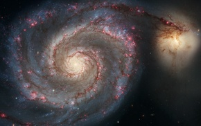 spiral galaxy, sky, Hubble, stars, NASA, space