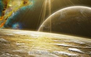 space art, planet, nebula, stars, space