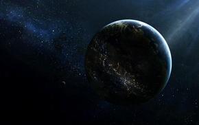 space, planet, digital art, Earth, CGI