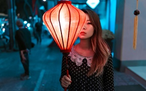 urban, lantern, model, girl, Asian