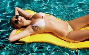 cleavage, girl, sunglasses, water, wet body, swimwear