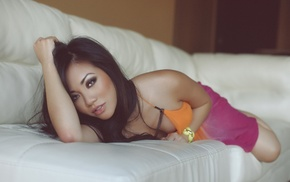 long hair, eyes, Asian, Quynh Thi Bao Nguyen, lips, girl