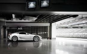 Lexus, race tracks, white cars, Lexus LFA, car