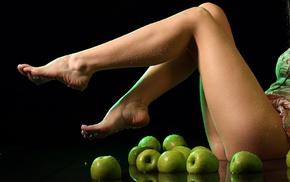 apples, girl