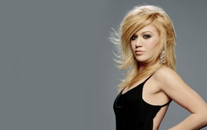 girl, lips, eyes, long hair, Kelly Clarkson
