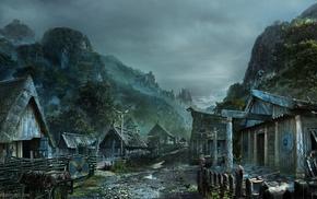Vikings, village