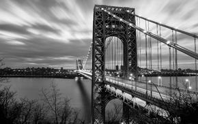 monochrome, bridge