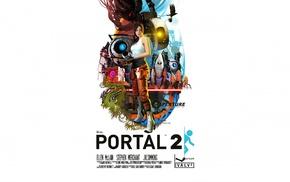 GLaDOS, Companion Cube, Portal game, turrets, P, body