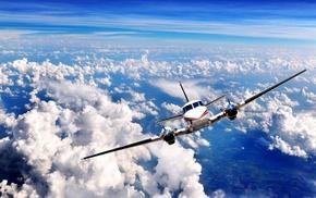 aircraft, King Air C90, sky, airplane, clouds