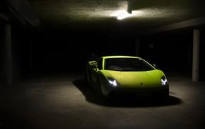 parking lot, Lamborghini, Lamborghini Gallardo, car