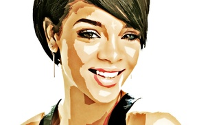 face, artwork, celebrity, singer, Rihanna, Photoshop