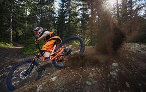 bicycle, men, dirt, mountain bikes, Downhill mountain biking, sports