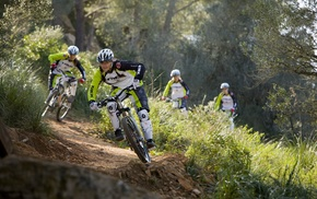 girl outdoors, mountain bikes, sports, bicycle, girl with bikes, sport