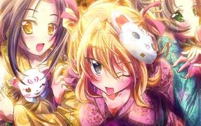 anime girls, Kurokawa Ellen, Japanese clothes, Precure, kimono, Minamino Kanade