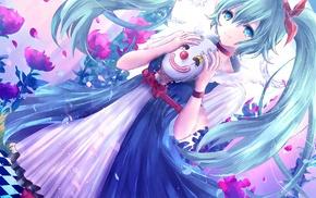 anime, mask, anime girls, Vocaloid, Hatsune Miku, painted nails