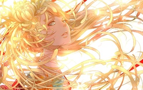 anime girls, hair, original characters, anime, blonde