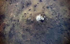 volcano, landscape, space