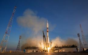 rocket, Roscosmos State Corporation, Soyuz, Baikonur Cosmodrome, Roscosmos, vehicle