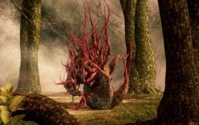 creature, trees