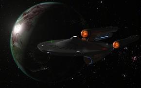 render, space, planet, Star Trek, artwork
