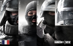 Rainbow Six Siege, special forces, collage, video games, artwork, GIGN