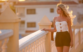 Evgeniy Apin, blonde, model, girl, urban