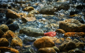 macro, nature, stones, water