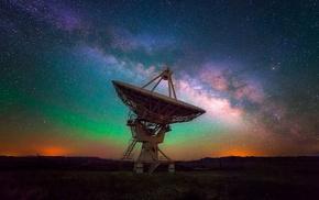 galaxy, Milky Way, observatory, long exposure, starry night, lights