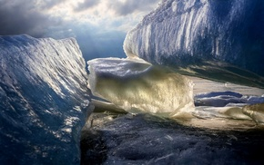 ice, cold, sunlight, sun rays, north pole, nature